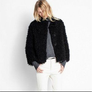 Zadig & Voltaire MILAN Jacket Coat Black Faux Fur